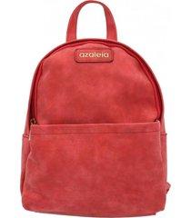 mochila mujer brilla back rojo azaleia