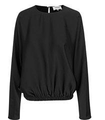 blouse met elastische band barbi  zwart