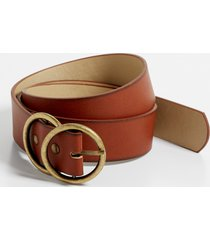 maurices plus size womens double buckle ring belt brown