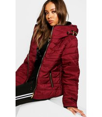 quilted jacket, wine