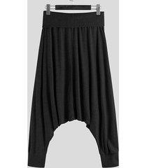 incerun hombres estilo étnico harem informal súper elástico suelto pantalones