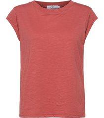 cc heart basic t-shirt t-shirts & tops short-sleeved röd coster copenhagen