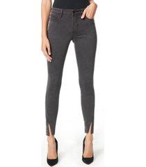 sam edelman denim the kitten zip-hem skinny ankle jeans