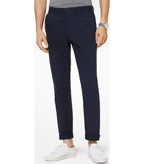 mk pantalone chino slim-fit in twill di cotone - notte (blu) - michael kors