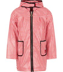 sonia rykiel red and white girl parka with iconic apple