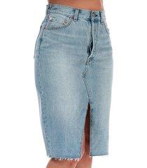 womens deconstructed midi skirt