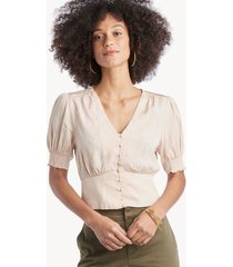 astr women's tallulah top in color: vintage cream size large from sole society