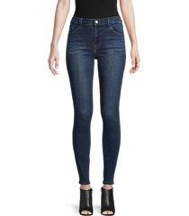 j brand women's maria high-rise skinny jeans - fasten - size 24 (0)