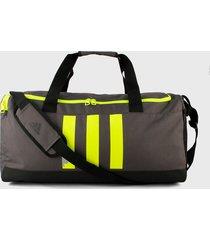 maletín gris-verde-negro adidas performance essentials 3