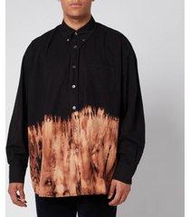 our legacy men's borrowed bd tie dye shirt - black - 52/xl