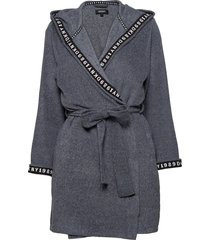 dkny all about layers robe l/s morgonrock blå dkny homewear