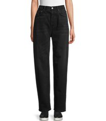boyish women's toby relaxed tapered jeans - the hustle - size 28 (4-6)