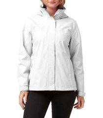 women's helly hansen w aden waterproof & windproof hooded jacket, size x-large - white