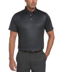 pga tour men's stretch textured-print polo shirt