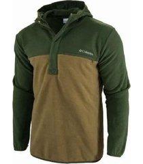 buzo verde columbia steens side hoodie