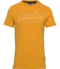 vl emb tee t-shirts short-sleeved gul superdry