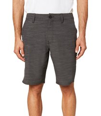 men's o'neill locked slub board shorts, size 34 - grey