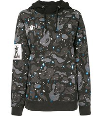 a bathing ape® hooded camouflage-print sweatshirt - black