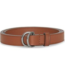 leather double d-ring belt
