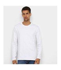 camiseta hering manga longa masculina