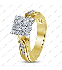 1.5 ct round cut diamond 14k gold over 925 silver bridal wedding engagement ring