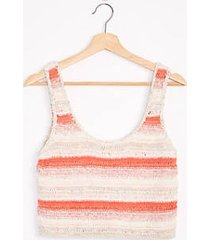 lou & grey stripestitch cropped sweater tank