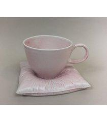 filiżanka na poduszce l - różowa
