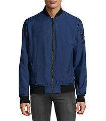 full-zip bomber jacket