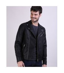 jaqueta masculina slim fit com bolso preto