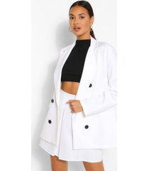 double breasted oversized blazer, ivory