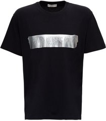 givenchy patent tape jersey t-shirt with logo print