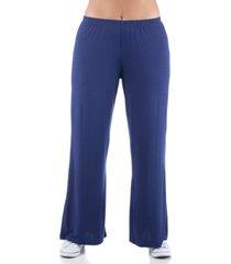 women's plus size comfortable palazzo lounge pants
