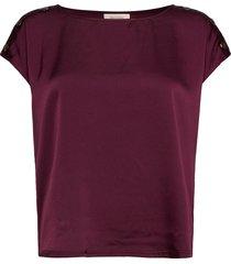 fqlotte-bl blouses short-sleeved röd free/quent