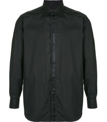 brioni pointed collar shirt - black