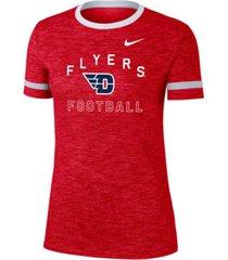nike women's dayton flyers slub fan ringer t-shirt