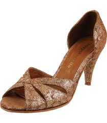 zapato dorado maggio rossetto roma stiletto