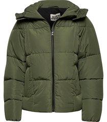 aspen down jacket gevoerd jack groen just female