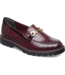 woms slip-on loafers låga skor röd tamaris