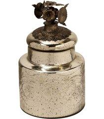 pote de vidro para decoração silver garden