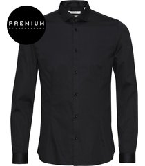 jack & jones premium heren overhemd parma satijn super slim fit zwart