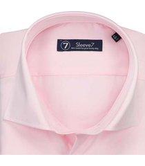 sleeve7 overhemd roze luxe