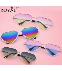 fashion heart shaped sunglasses women metal wrap sun glasses oculos de sol ss036