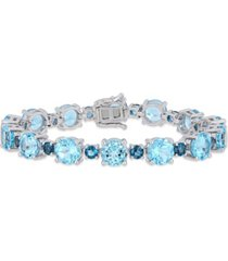 citrine (29-3/8 ct. t.w.) tennis bracelet in sterling silver (also available in blue topaz)