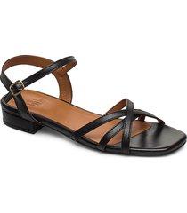 sandals 4025 shoes summer shoes flat sandals svart billi bi
