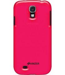 amzer soft gel tpu gloss skin case samsung galaxy s4 - translucent hot pink
