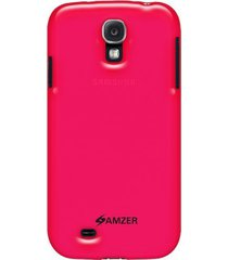 amzer soft gel tpu gloss skin case samsung galaxy s4 - translucent hot pink
