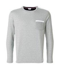 thom browne camiseta bicolor 'half-and-half' - cinza