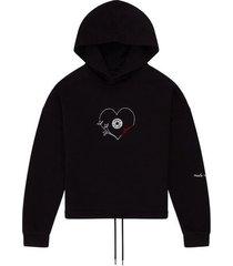chuck taylor love hoodie