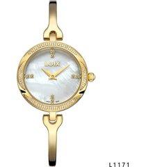 reloj para dama marca loix ref  l1171-05 dorado