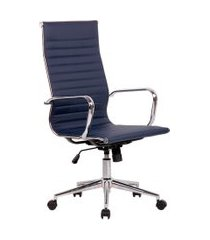 cadeira de escritório secretária sevilha i estofada azul marinho